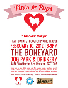 pints for pups fundraising event flyer