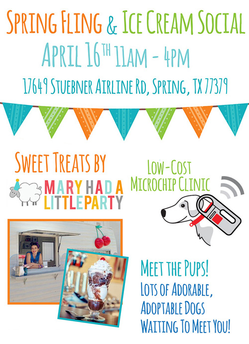 spring fling and ice cream social benefitting Houston Eskie Rescue